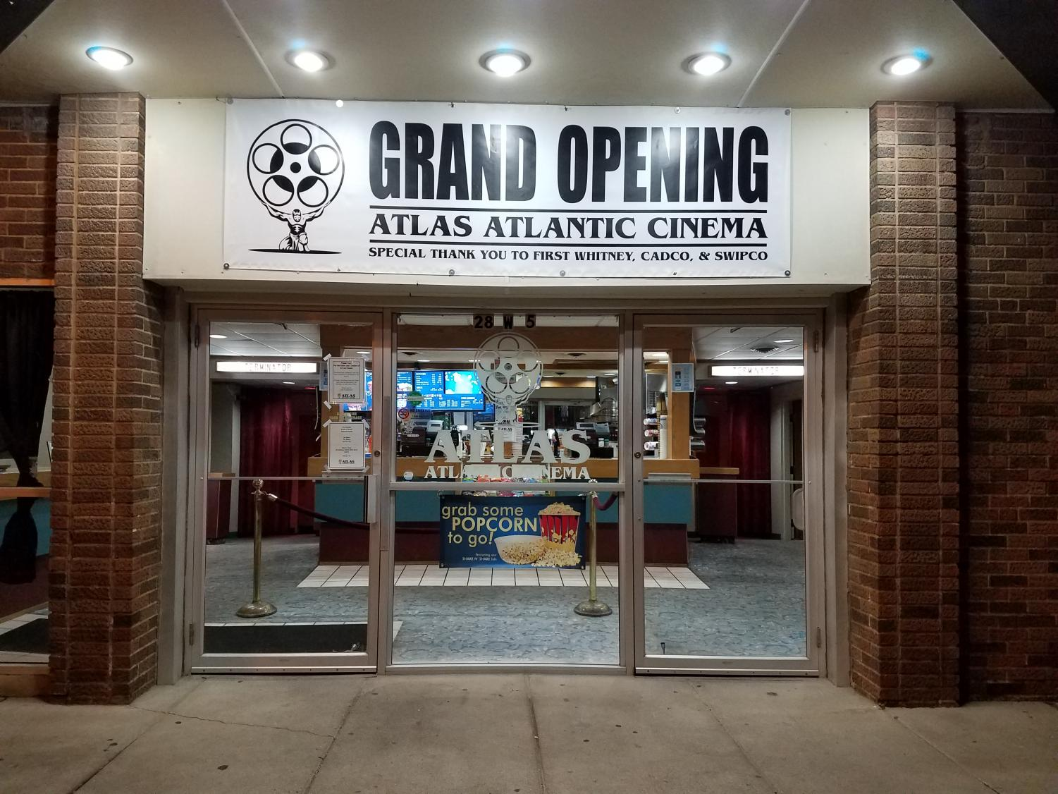 NEW BEGINNINGS -- The Atlas Atlantic Cinema opened on Friday, Nov. 1. There will be many changes under the new owners.