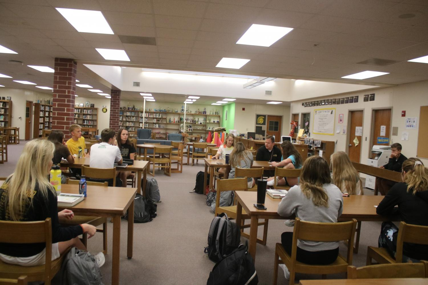 The NHS chapter meets early in the year. Juniors and seniors meet about once a month for NHS discussions.