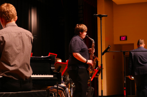 Junior Nate McLean plays the alto saxophone. This year, he plays first part.