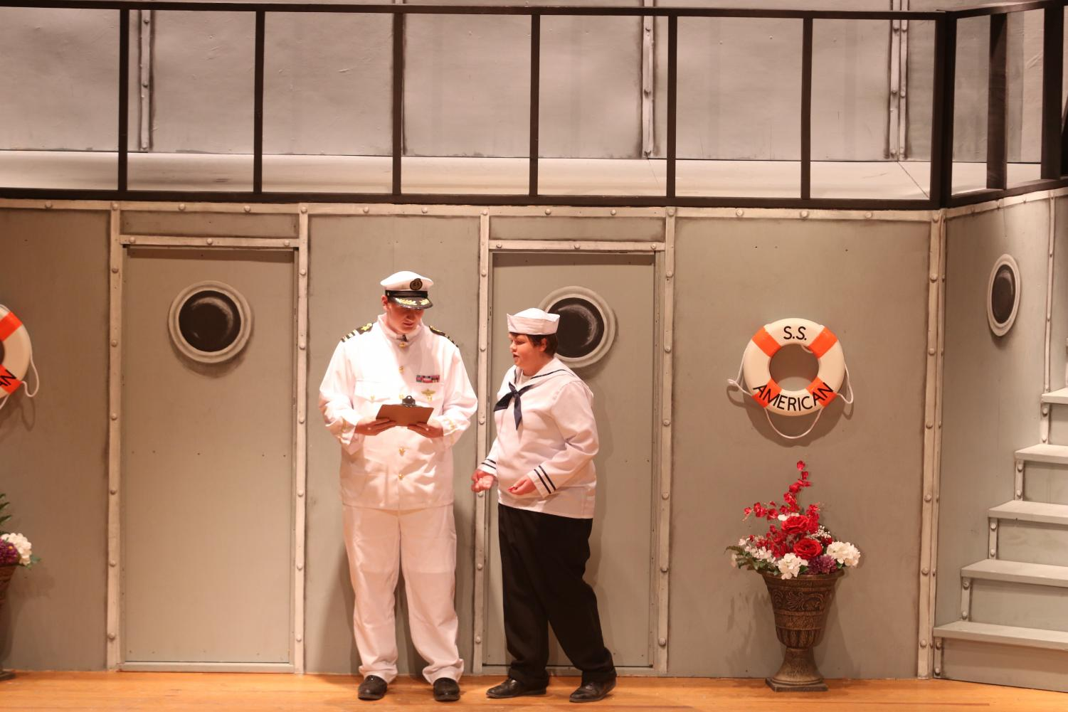 Sophomore Hunter Weppler and junior Nate McLean take the stage for last year's musical,