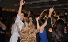 The crowd rages at last year's Winter Formal dance. Adriana Mendez was crowned queen at the event.