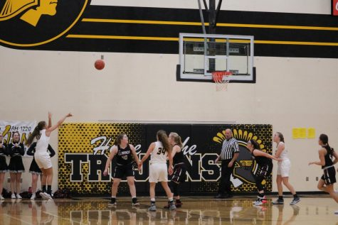 Junior Taylor McCreedy hits a jumper. She averages 6.2 points per game.