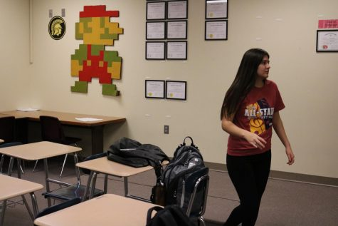 Junior Gen Martinez practices for a competition last year. This year, Martinez was in short film and an ensemble acting group.