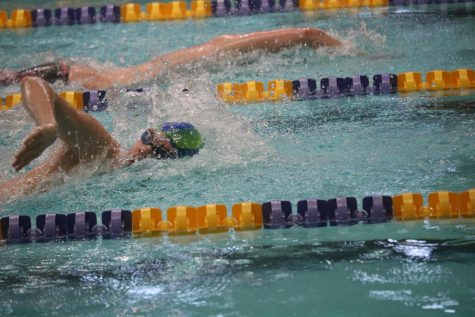 Swim Team Competes at State-Qualifying Meet