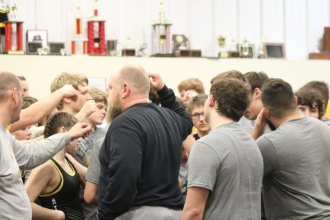 The wrestling team breaks it down after Wrestle-Offs.