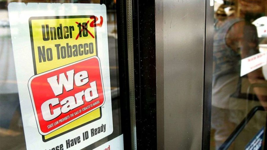 The law change prohibits people under 21 years of age from buying tobacco products. It was enacted on Friday, Dec. 20.