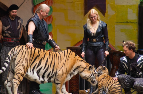 Doc Antle showcases one of his tigers for a crowd. Antle plays a large role in the series, as he runs a zoo in Myrtle Beach, S.C. At the beginning of the series, Antle and fellow zoo owner Joe Exotic have a friendly working relationship.