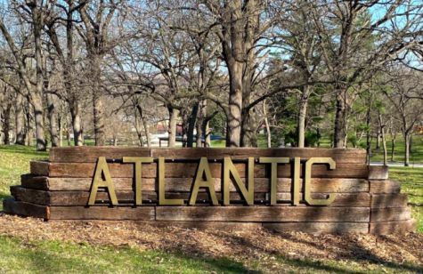 The newly-added Atlantic signs can be found by both entrances to Sunnyside Park. Eggs were hidden in and around the sign during the Easter egg hunt.