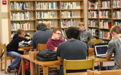 Students spend their study hall in the media center. This atmosphere may look a little different going into next school year.