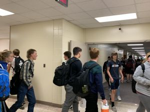 Some students choose not to wear a mask, even during passing periods. This year, face masks at AHS were