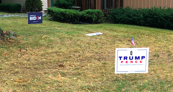 "Political signs can be found scattered across the nation's yards as the country approaches the presidential election. Freshman Cater Bengel said that he and his friends, ""argue [about politics] all the time, but it's fun and we're still friends the next day."""
