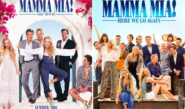 """""""Mamma Mia! Here We Go Again"""" came out in 2018, and its predecessor """"Mamma Mia!,"""" came out in 2008. The original cast returned for the second film."""