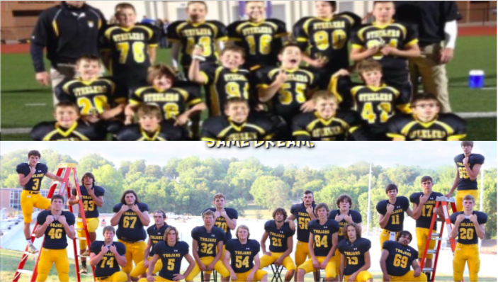 The+senior+football+players+face+changes+each+day+like+other+students+at+AHS.+The+Trojans+have+had+many+changes+since+they+were+Steelers.