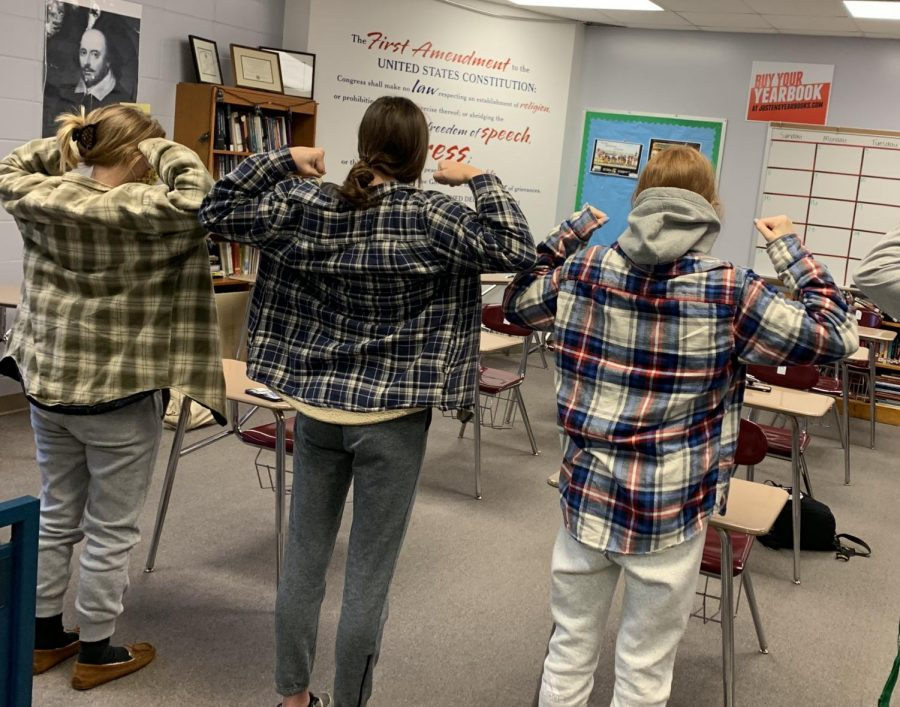 STRONG FOR STEELE - Students and faculty wore flannel shirts and gray sweatpants, a style Steele McLaren is known for, on Monday. The school, Atlantic, and surrounding communities are finding ways to support McLaren and his family.