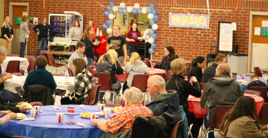 Students worked hard to earn money during the 2020 Taco Night. Taco Night is the organization's way to help fund the trip, while serving good food and hosting a silent auction.