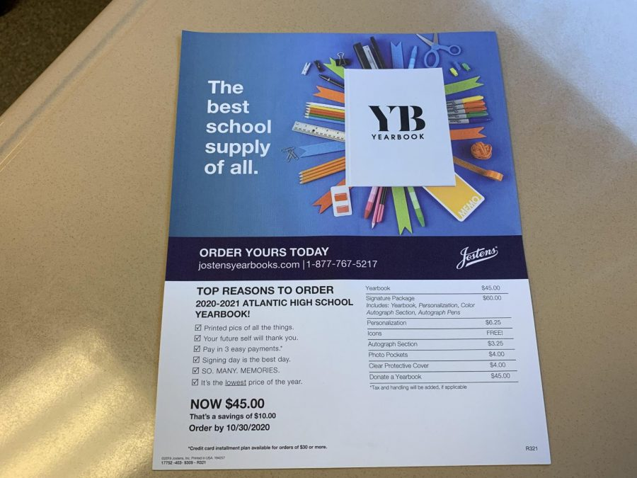 Students can order a yearbook from the school or online. If ordered by Oct. 10, it's only $45.