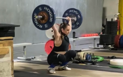 Plambeck jerks 87kg (191 lb) in the Oct. 25, 2020. She finished as the Virginia state runner-up with a 157kg (346 lbs) total in the 64kg  (141 lb.) weight class.