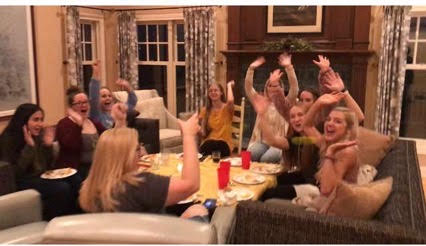 The 2019-2020 AHS journalism department gathers for a Thanksgiving celebration last year. This year, Thanksgiving might look different for some families due to COVID-19 precautions.