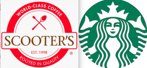 Scooter's and Starbucks are both chain coffee shops. When looked at side by side, Starbucks is just better.