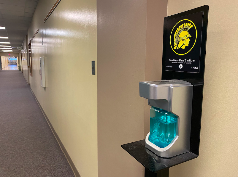 COVID-19+has+changed+many+things+about+students%27+daily+life.+Because+of+the+virus%2C+hand+sanitizer+stations+can+be+found+around+the+school.