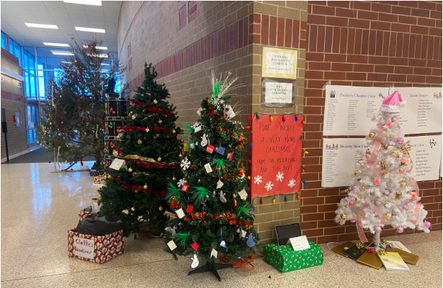 Students at AHS decorated trees representing different activities in the weeks leading up to break. Students were looking forward to break for a variety of reasons this year.