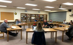 The Board of Education discusses COVID-19 mitigation strategies at a previous meeting. The board has been discussing how to best support our school during the pandemic since March of 2020.