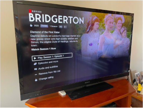 "With 8 episodes averaging an hour length, the show ""Bridgerton"" can be streamed on Netflix."