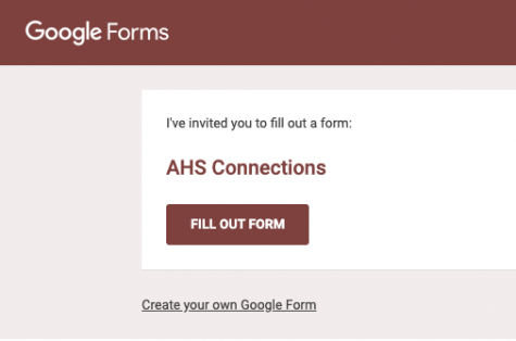 "The ""AHS Connections"" form was sent out and contained a list of every teacher and faculty member in the building at AHS. Students were asked to check off anyone they knew they could go to for support."