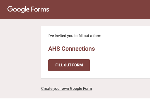 The AHS Connections form was sent out and contained a list of every teacher and faculty member in the building at AHS. Students were asked to check off anyone they knew they could go to for support.
