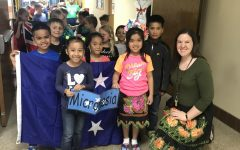 Students at Washington Elementary celebrate culture day. One of ESL Coordinator Brielle Cerven's main goals is to