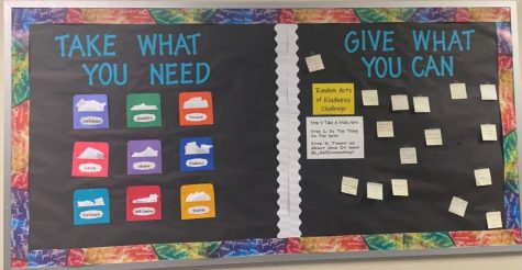 Take what you need and give what you can encourages students to spread positivity. The guidance office offers support for all students.