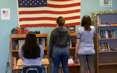 The Pledge is recited over the intercom every day. Students choose to participate or not.  (Photo illustration)