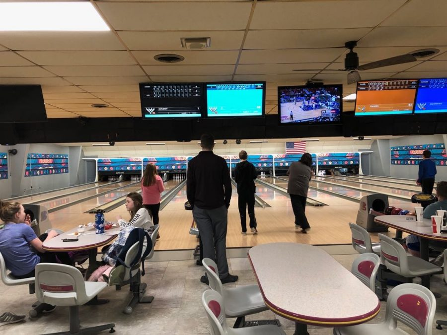 The middle school bowling team practices under the eye of coach Michael Applegate. Applegate hopes a high school bowling team can be started.