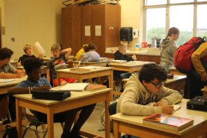 The art room is used for history teacher Mike McDermotts classes.